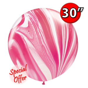 "30"" SuperAgate (2 ct.) - Red & White , QL30RAG55379"