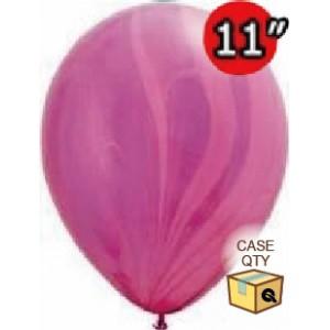 "11"" SuperAgate (40 Bags/ Case) - Pink Violet Rainbow , QL11RAGC91543"