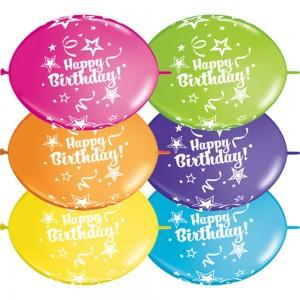 "12"" QL-Tropical Assortment - Birthday (50ct) , QL12LI14259"