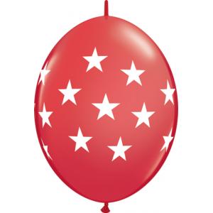 """12"""" QL-Big Stars - Red (50ct) , *QL12LI90553"""