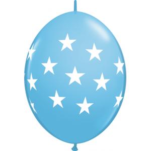 """12"""" QL-Big Stars - Pale Blue (50ct) , *QL12LI90555"""