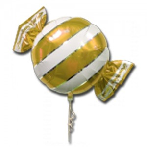 "SAG - Premium Candy 18"" 拖肥糖 Gold , SAG-C2453 <Helium #B>"