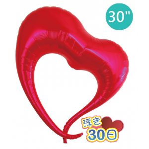 "Ibrex Elegant Heart 30"" 優雅心形 Metallic Red (Non-Pkgd.), TKF30EHP317101"