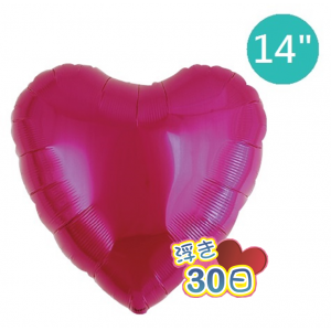 "Ibrex Heart 14"" 心形 Metallic Magenta (Non-Pkgd.), TKF14HP313110"