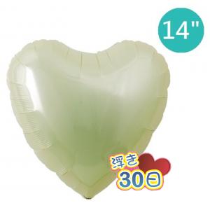 "Ibrex Heart 14"" 心形Metallic Ivory (Non-Pkgd.), TKF14HP313112"