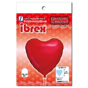 "ibrex Heart 14"" 心形 Metallic Red (pkgd.) , TKF14HP333101PK"