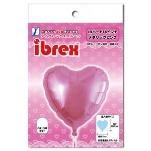 """ibrex Heart 14"""" 心形 Metallic Pink (pkgd.) , TKF14HP333116PK"""