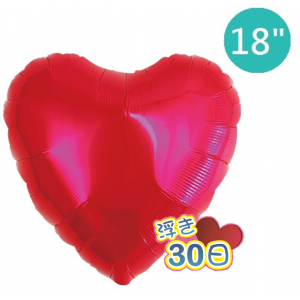 "Ibrex Heart 18"" 心形 Metallic Red (Non-Pkgd.), TKF18HP311101"