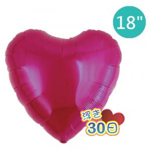 "Ibrex Heart 18"" 心形 Metallic Magenta (Non-Pkgd.), TKF18HP311110"