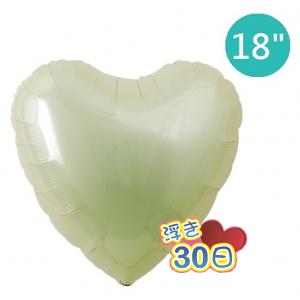 "Ibrex Heart 18"" 心形 Metallic Ivory (Non-Pkgd.), TKF18HP311112"