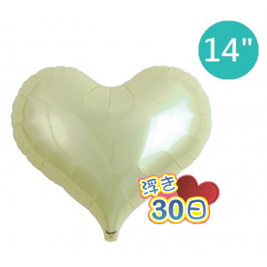 "Ibrex Jelly Heart 14"" 果凍心形 Metallic Ivory (Non-Pkgd.), TKF14JHP313312"