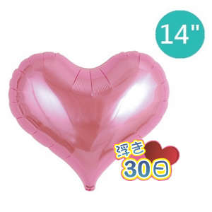 "Ibrex Jelly Heart 14"" 果凍心形 Metallic Pink (Non-Pkgd.), TKF14JHP313316"