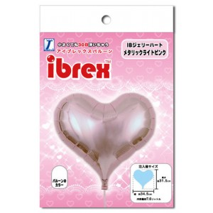 "ibrex Jelly Heart 14"" 果凍心形 Metallic Light Pink (pkgd.) , TKF14JHP337102PK"