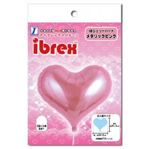 "ibrex Jelly Heart 14"" 果凍心形 Metallic Pink (pkgd.) , TKF14JHP337116PK"