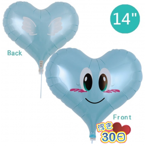 "Ibrex Jelly Heart 14"" 果凍心形 Smile Angel PL Blue (Non-Pkgd.), TKF14JHI313402"