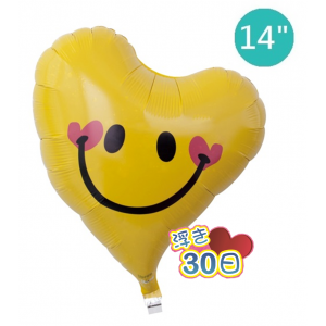 "Ibrex Heart 14"" 心型 Lovely Smile Yellow (Non-Pkgd.), TKF14SHI313607"