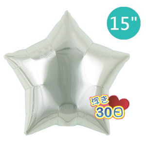 """Ibrex Star 15"""" 星形 Metallic Silver (Non-Pkgd.), TKF15SP313206"""