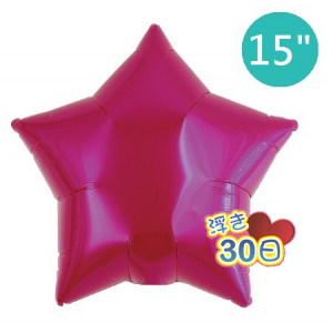 "Ibrex Star 15"" 星形 Metallic Magenta (Non-Pkgd.), TKF15SP313210"