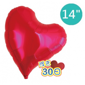 "Ibrex Sweet Heart 14"" 甜心形 Metallic Red (Non-Pkgd.), TKF14SHP317001"