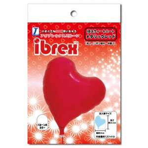 "ibrex Sweet Heart 14"" 甜心形 Metallic Red (pkgd.) , TKF14SHP337001PK"