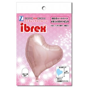 "ibrex Sweet Heart 14"" 甜心形 Metallic Light Pink (pkgd.) , TKF14SHP337002PK"