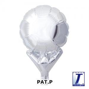 "Upright Balloon 5""/ Plain_Metallic Silver (Non-Pkgd.), TK-UPB-P800506 <10 個/包>"