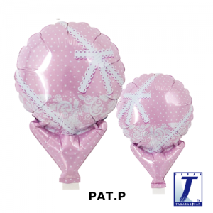 "Upright Balloon 5""/ Printed_Lace Ribbon White (Non-Pkgd.), TK-UPB-I810501 <10 個/包>"