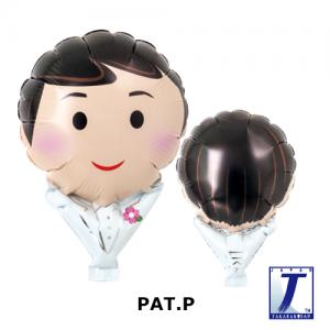 "Upright Balloon 5""/ Printed_Groom Tuxedo (Non-Pkgd.), TK-UPB-I810505 <10 個/包>"