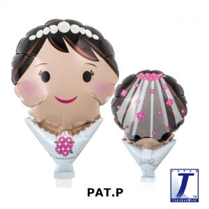 "Upright Balloon 5""/ Printed_Bride Dress (Non-Pkgd.), TK-UPB-I810506 <10 個/包>"