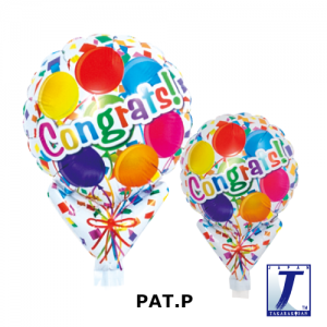 "Upright Balloon 5""/ Printed_Congrats Balloons (Non-Pkgd.), TK-UPB-I810511 <10 個/包>"