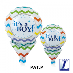 It's a Boy Chevron (10ct) , TK-UPB-I810512