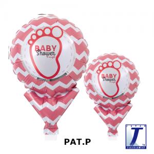"Upright Balloon 5""/ Printed_Baby Shower Girl (Non-Pkgd.), TK-UPB-I810515 <10 個/包>"