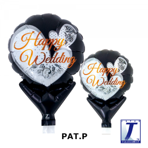 Happy Wedding Lace Black (10ct) , *TK-UPB-I810517