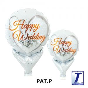 "Upright Balloon 5""/ Printed_Happy Wedding Lace White (Non-Pkgd.), TK-UPB-I810518 <10 個/包>"