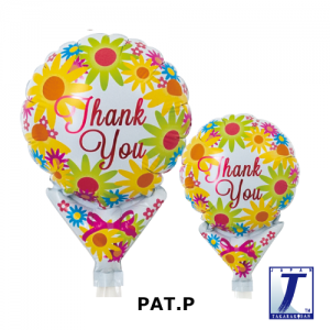 """Upright Balloon 5""""/ Printed_Thank You Yellow Bouquet (Non-Pkgd.), TK-UPB-I810528 <10 個/包>"""