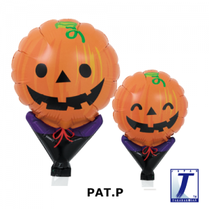 "Upright Balloon 5""/ Printed_Smiley Pumpkin (10ct), TK-UPB-I810535 <10 個/包>"