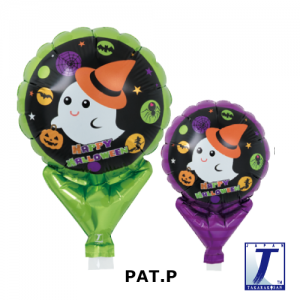 "Upright Balloon 5""/ Printed_Witch Hat Cute Ghost (10ct), TK-UPB-I810536 <10 個/包>"