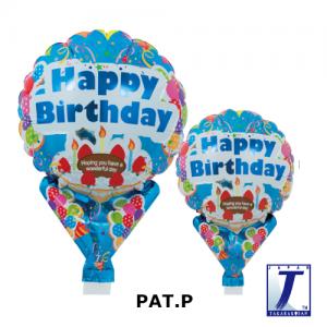 "Upright Balloon 5""/ Printed_Brilliant Birthday Blue (Non-Pkgd.), TK-UPB-I810538 <10 個/包>"