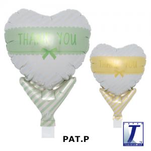 "Upright Balloon 5""/ Printed_Thank You Ribbon L.Green & L. Yellow (Non-Pkgd.), TK-UPB-I810604 <10 個/包>"