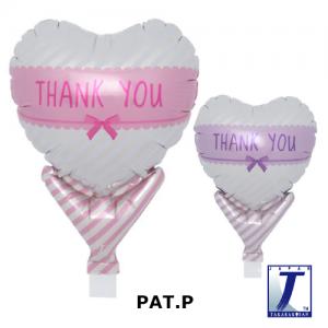 "Upright Balloon 5""/ Printed_Thank You Ribbon Pink & L.Purple (Non-Pkgd.), TK-UPB-I810605 <10 個/包>"
