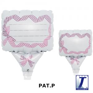"Upright Balloon 5""/ Printed_Message Card Ribbon Purple & Pink (Non-Pkgd.), TK-UPB-I810703 <10 個/包>"
