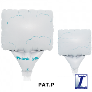 """Upright Balloon 5""""/ Printed_Message Card Clouds Thank You (Non-Pkgd.), TK-UPB-I810706 <10 個/包>"""