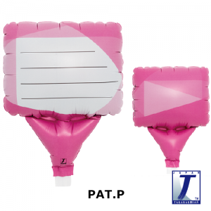 """Upright Balloon 5""""/ Printed_Message Card Pink (Non-Pkgd.), TK-UPB-I810708 <10 個/包>"""