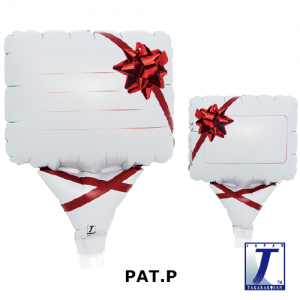 """Upright Balloon 5""""/ Printed_Message Card Gift Ribbon Red (Non-Pkgd.), TK-UPB-I810709 <10 個/包>"""